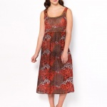 robe longue grande taille decontractee rouge