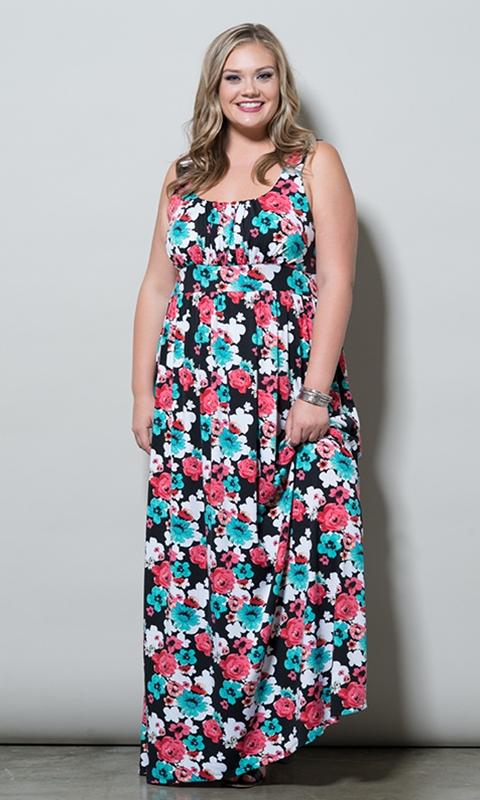 robe longue grande taille ete imprime fleuri