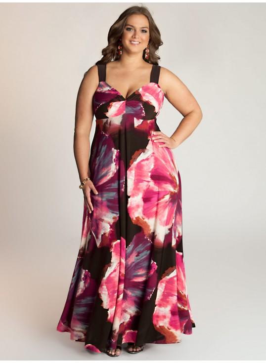 robe longue grande taille fluide bel imprime floral maxi size