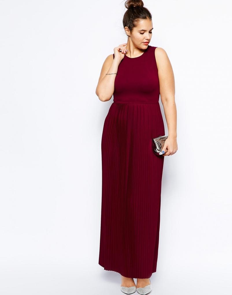 5535abaa0d4 robe longue grande taille rouge fonce ceremonie sans manche - la ...
