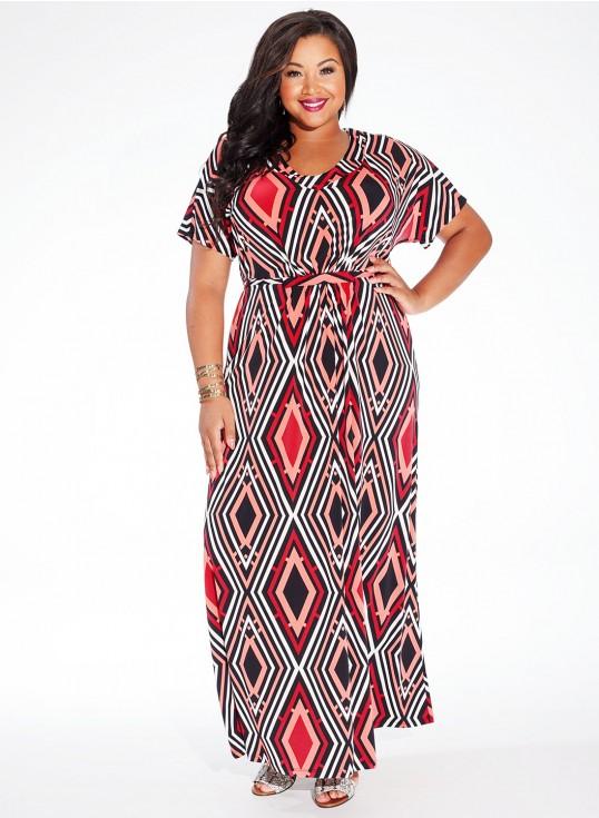 robe longue grande taille zalando imprime geometrique taille 50
