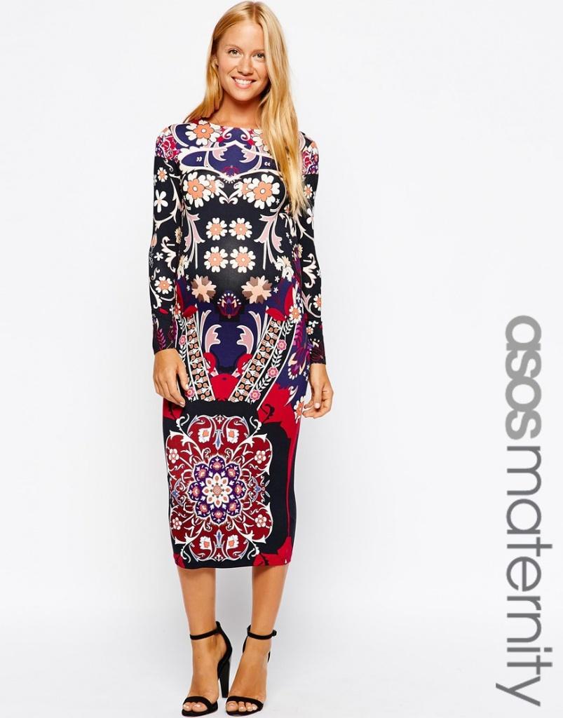 robe longue grossesse originale riches motifs
