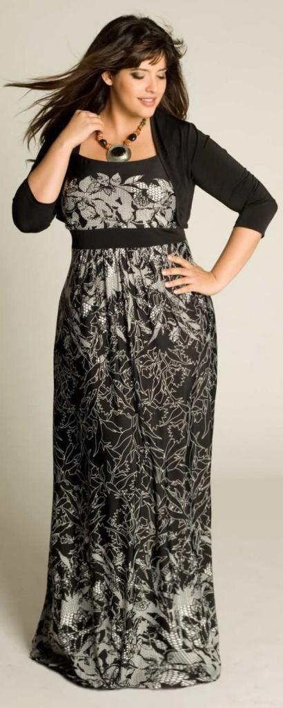 615f9b2fa0a robe longue manche longue grande taille bolero integre noir - la ...