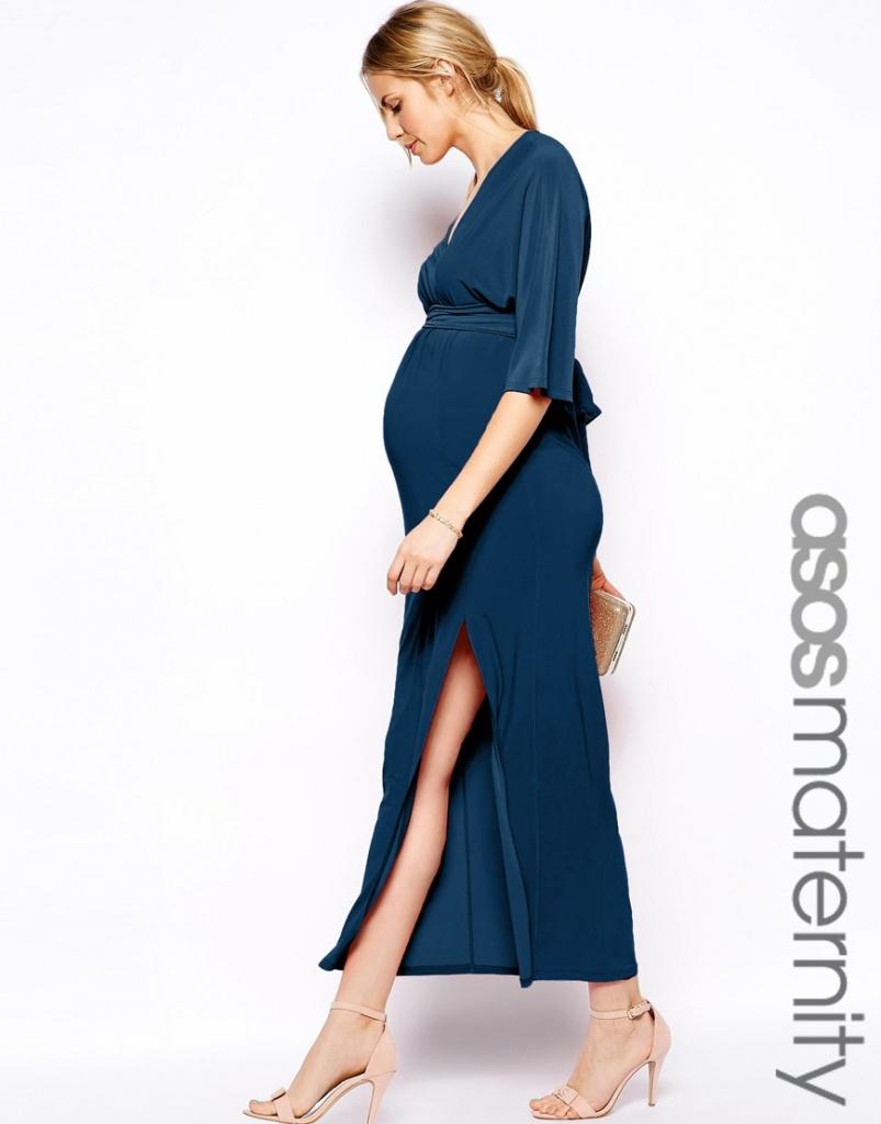 robe longue tres fendue femme enceinte