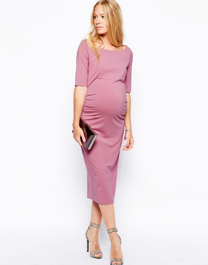 robe mauve grossesse habillee longue