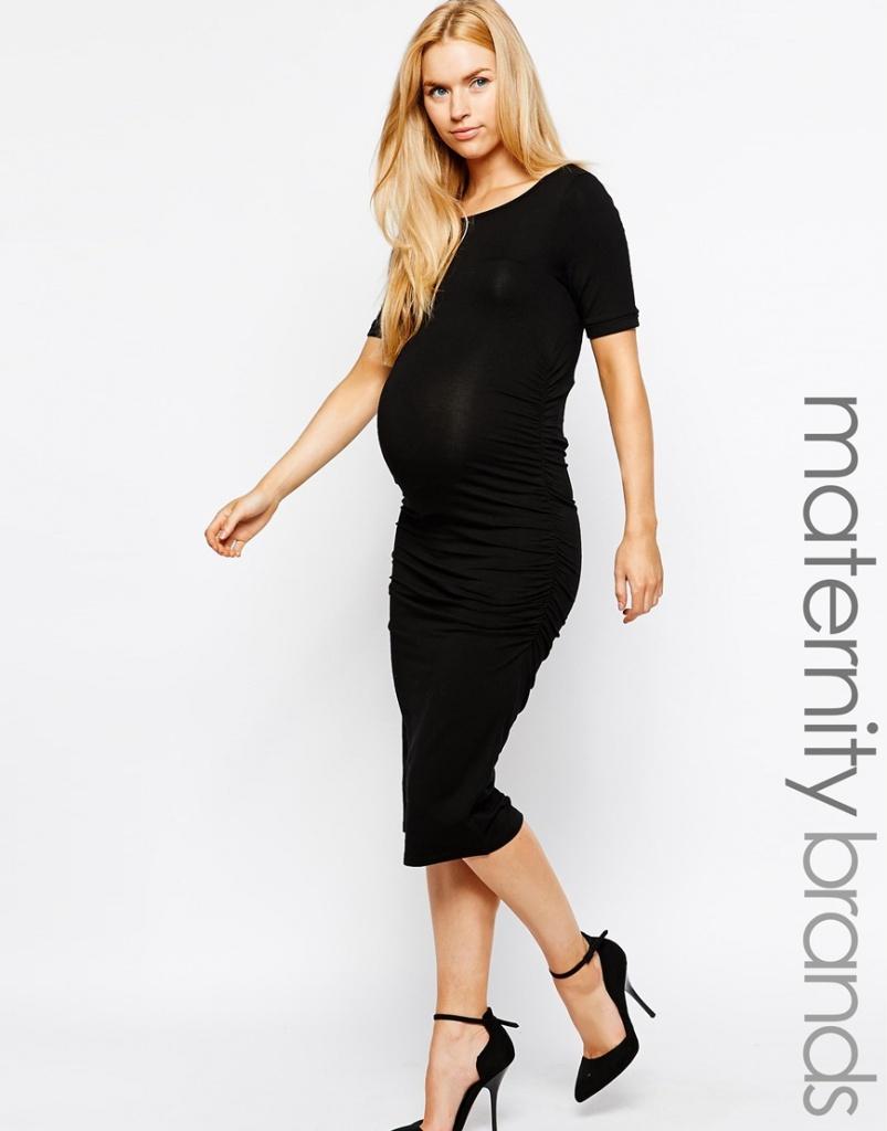robe mi longue grossesse extensible et moulante