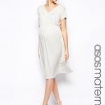 robe mi longue grossesse pour mariage tres fluide blanche