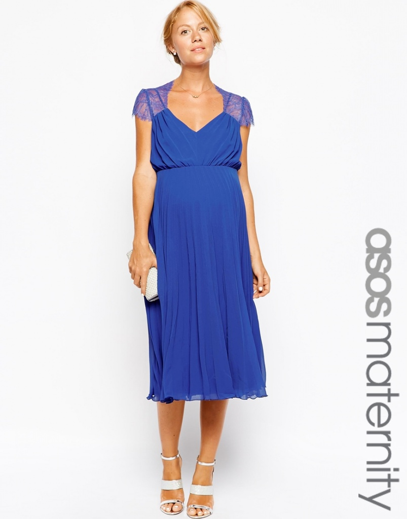 d4184cedc3ee2 robe mi longue maternite bleu habillee - la robe longue
