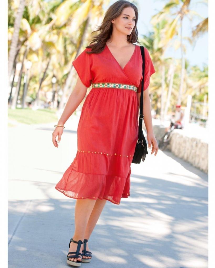robe mi longue rouge a volants grande taille voile avec jolie ceinture aaacc22ea133