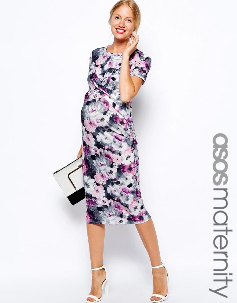 robe mi longue tres fleurie femme enceinte