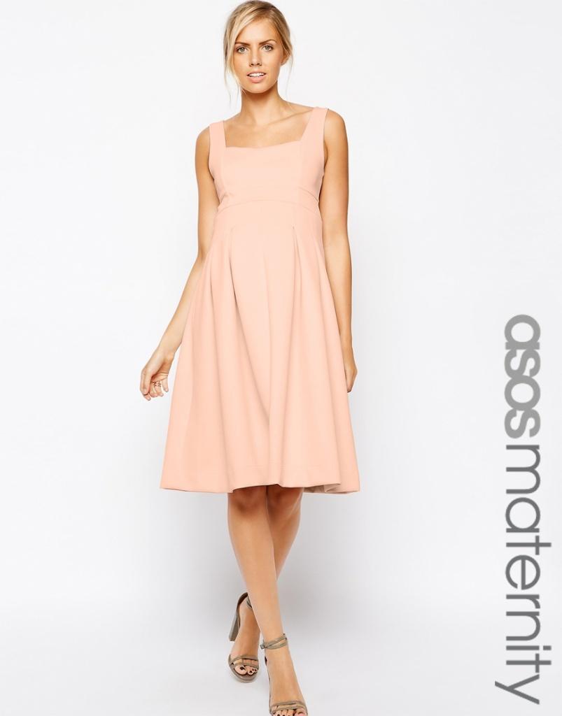 robe rose pale perle mi longue grossesse