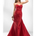 robe sirene cocktail mariage rouge