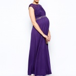 robe violette de grossesse habillee longue