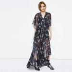 belle robe longue maje voile style kimono