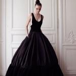 magnifique robe longue noire de createur