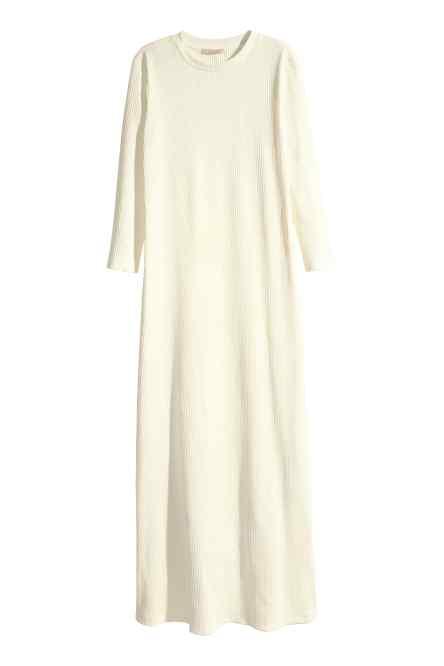 robe blanche longue hiver h et m