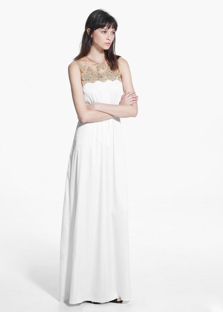 6461a21132a8 robe dentelle mango longue sans manche - la robe longue