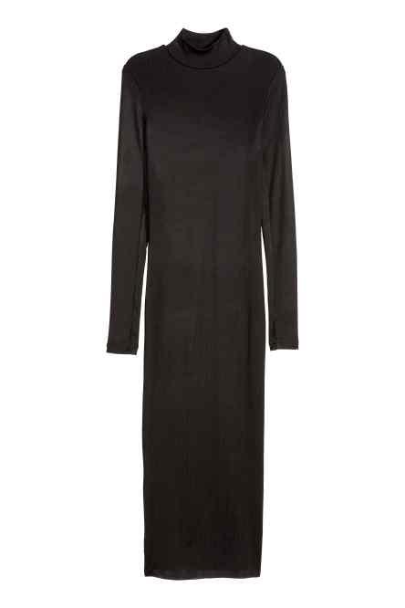 robe hiver longue hm avec col montant moulante