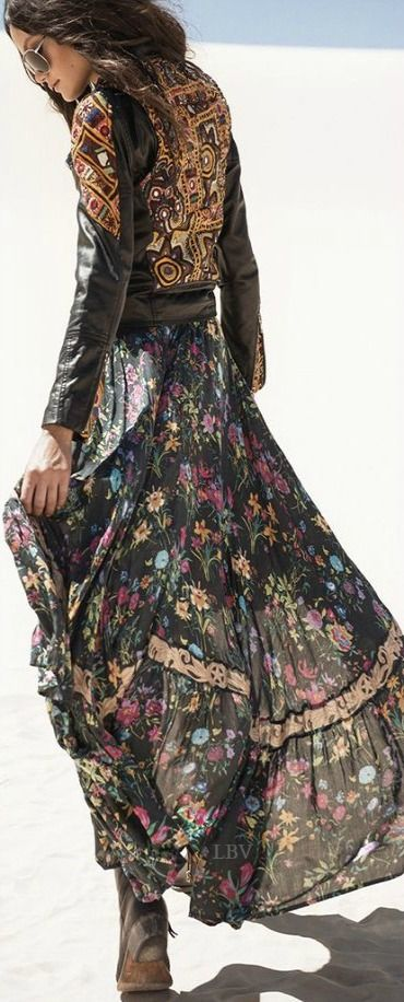 robe longue boheme hiver gipsy boheme