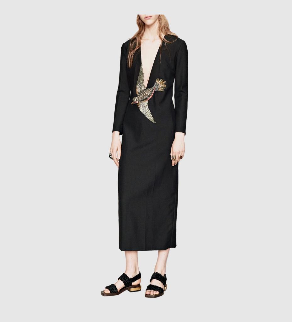 robe longue hiver en laine mohair gucci