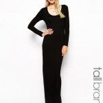 robe longue hiver manches longues noire basique pres du corp