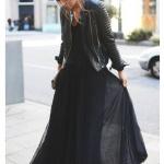 robe longue noire look de soiree rebelle et classe