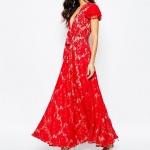 robe longue rouge dentelle style gipsy