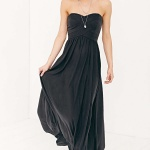 robe maxi longue urban outfitter bustier effet drape grec