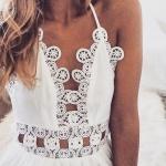 belle robe longue coton blanc crochet et cotonnade
