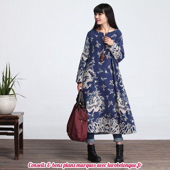 jolie robe longue coton femme hippie boho
