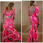 magnifique robe rose longue coton des iles