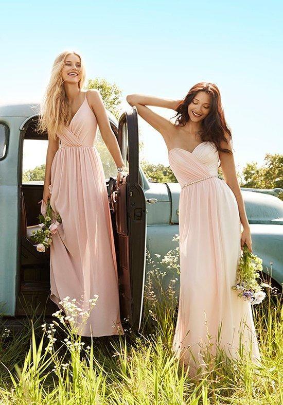 ravissante robe longue bustier pour demoiselles d honneur
