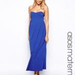 robe bleu longue fluide bustier femme enceinte