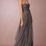 robe bustier fluide voile longue grise