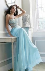 robe longue bustier