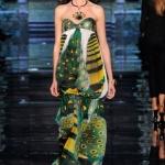 robe bustier longue imprime etchnique defile 2015