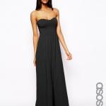robe bustier longue noire pour ete