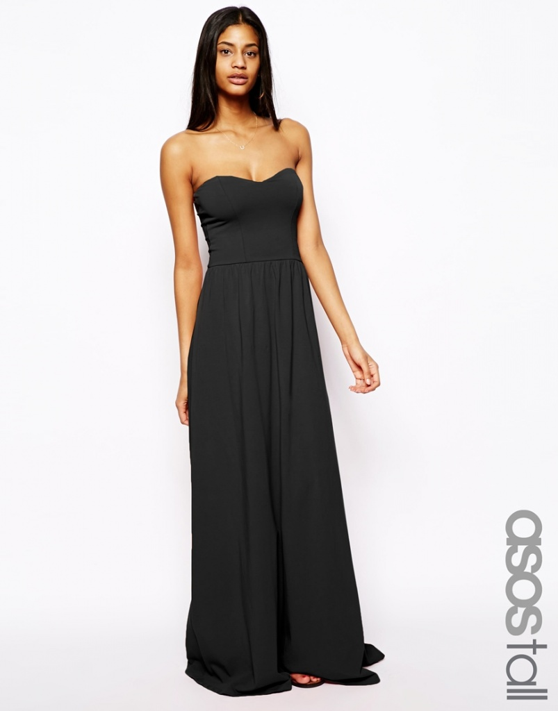 739247428bbe robe bustier longue noire pour ete - la robe longue