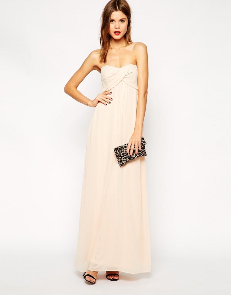 robe bustier longue rose pale pour mariage
