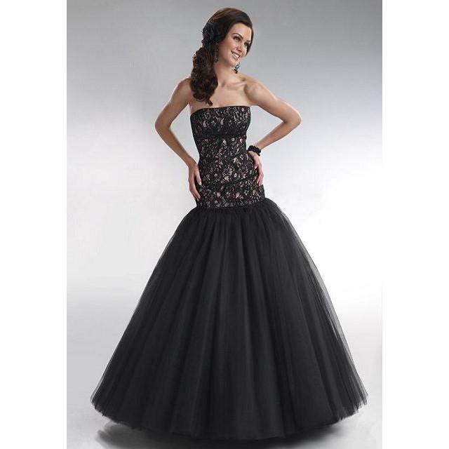 robe bustier recouvrant les hanches et jupon en tulle noire