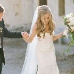 robe de mariage longue bustier avec beau voile