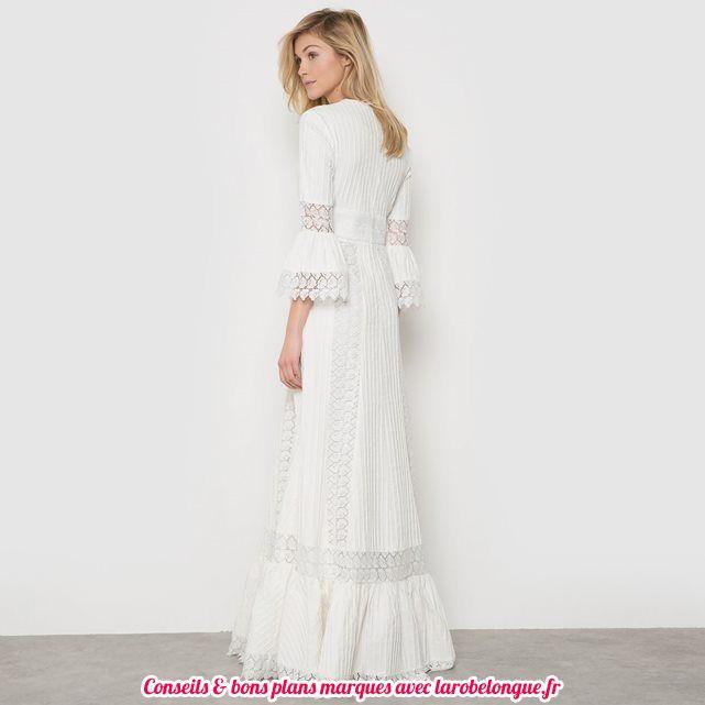 robe de mariee longue coton delphine manivet vu chez la redoute