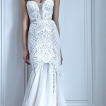 robe de mariee originale longue bustier blanc createur