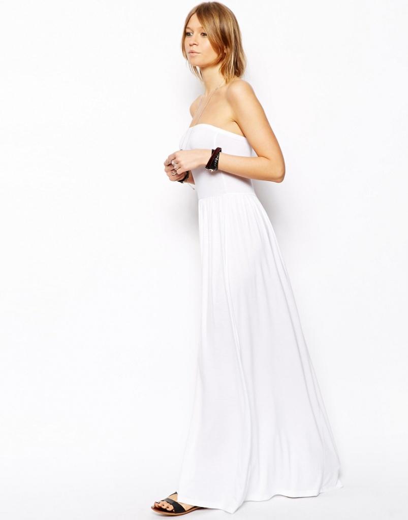 robe ete longue bustier blanche pas cher
