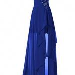 robe fendue longue bustier et motifs etoiles bleu fonce