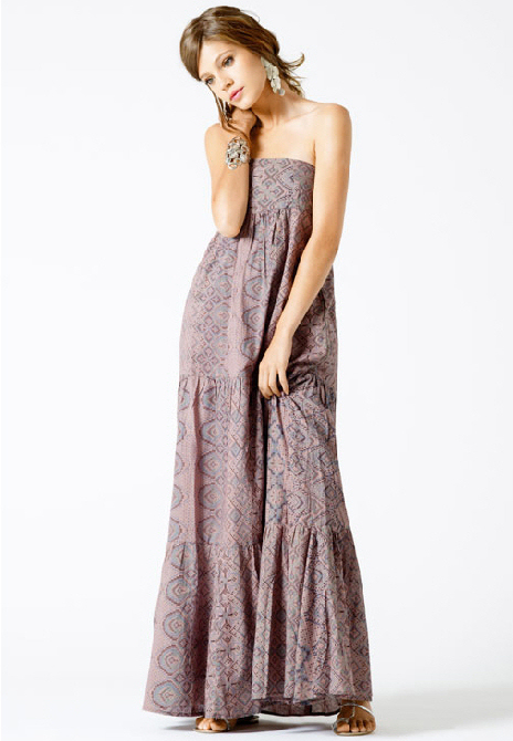 robe longue bustier bash volants