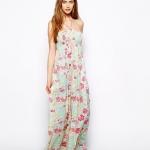 robe longue bustier coton motif fleuri