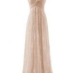 robe longue bustier dentelle couleur champagne pour mariage