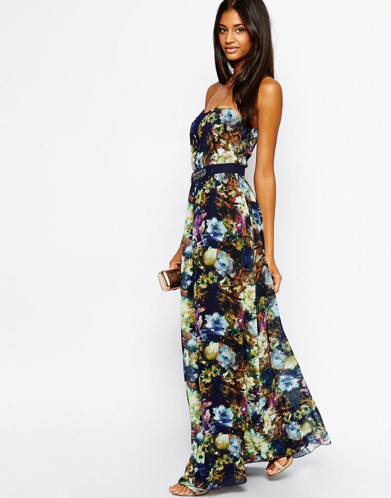robe longue bustier fleurie boheme