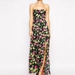robe longue bustier fleurie ete